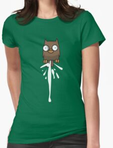 Castle Crashers Owl Pooping Womens Fitted T-Shirt