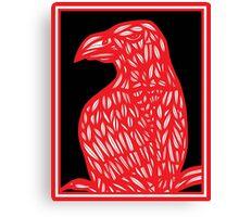 Setter Eagle Hawk Red White Black Canvas Print
