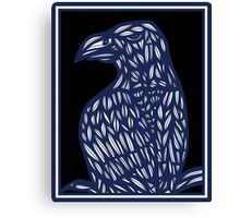 Bindel Eagle Hawk Blue Black Canvas Print