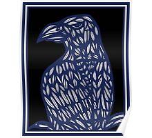 Bindel Eagle Hawk Blue Black Poster