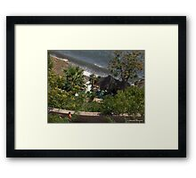 Beach Bar Framed Print