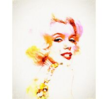 Marilyn The Pink Sketch Photographic Print