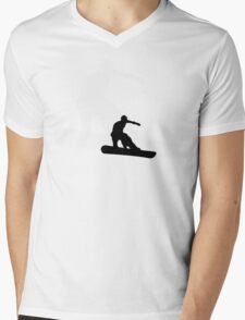 snowboard : shadowstance Mens V-Neck T-Shirt