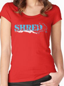 snowboard : shred Women's Fitted Scoop T-Shirt