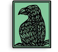 Musulin Eagle Hawk Green Black Canvas Print