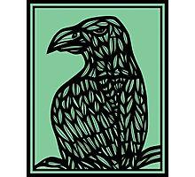 Musulin Eagle Hawk Green Black Photographic Print
