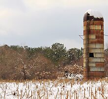 Silo in the Snow by krishoupt