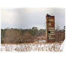 Silo in the Snow Poster