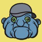 Pocket Face Series - Blue Blob by badteeth
