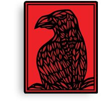 Strehl Eagle Hawk Red Black Canvas Print