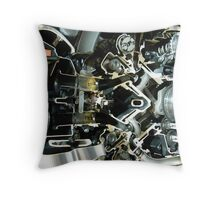 Cross section of a motorcycle engine. Throw Pillow