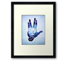 Spocks Hand - Leonard Nimoy Geek Tribute Framed Print