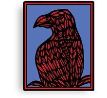 Niverson Eagle Hawk Red Blue Canvas Print