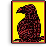 Bethers Eagle Hawk Yellow Red Black Canvas Print