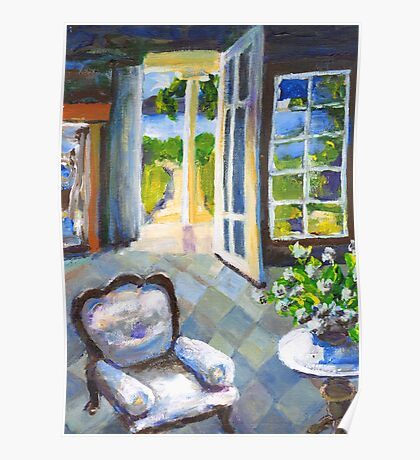 White Chair Nantucket Poster