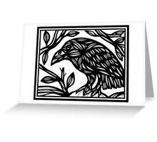 Tumminia Magpie Black and White Greeting Card
