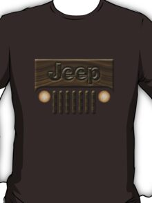 Wooden Jeep Willys ~ Black [Update] T-Shirt