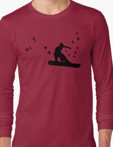 board with birds Long Sleeve T-Shirt