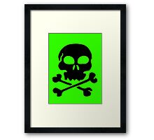 SKULL AND CROSSBONES by Zombie Ghetto Framed Print