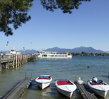 Chiemsee with Fraueninsel  by Klaus Offermann