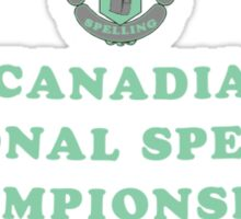 Canadia Spelling Champ Sticker