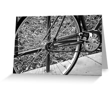 BIKE,WHEEL,TRANSPORTATION,WINTER,COLLEGE Greeting Card