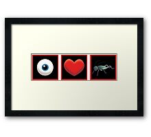 I LOVE CRICKET Framed Print