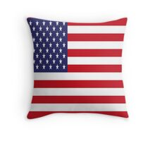 USA Flag, American Style, Stars And Stripes, Super Resolution Throw Pillow