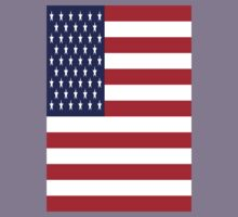 USA Flag, American Style, Stars And Stripes, Super Resolution Kids Tee