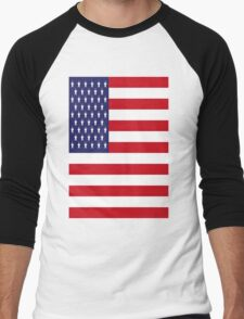 USA Flag, American Style, Stars And Stripes, Super Resolution T-Shirt