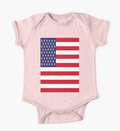 USA Flag, American Style, Stars And Stripes, Super Resolution One Piece - Short Sleeve