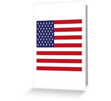 USA Flag, American Style, Stars And Stripes, Super Resolution Greeting Card