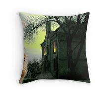 House On The Corner Throw Pillow