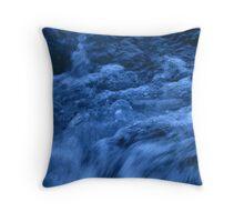 Blue Chop Throw Pillow