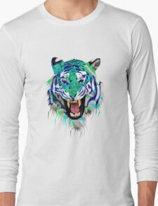 Tiger Force Teeth Face Long Sleeve T-Shirt