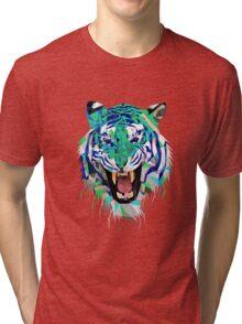 Tiger Force Teeth Face Tri-blend T-Shirt