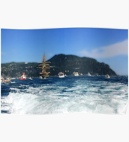 Tall Ships 11 (in front of Portofino) Poster