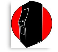 Retrogamer - Arcade Cabinet Silhouette - RED Canvas Print