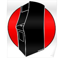 Retrogamer - Arcade Cabinet Silhouette - RED Poster