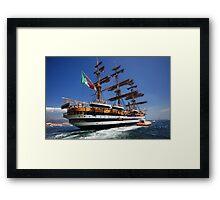 Tall ships 7 Amerigo Vespucci Framed Print