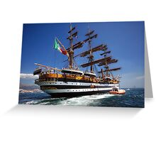 Tall ships 7 Amerigo Vespucci Greeting Card