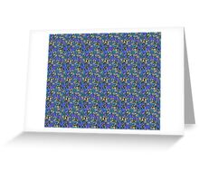 Pattern Flower [Blue] Greeting Card