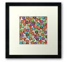 Colourful & Delicious Iced Donuts Framed Print