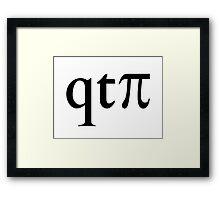 qt pi (Cutie Pie) Framed Print