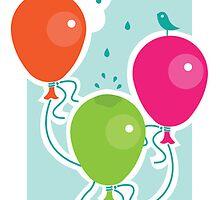 Balloons - greeting card by oksancia
