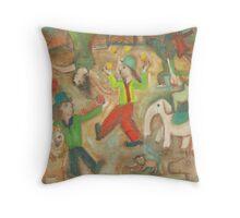 Chagalls Circus Throw Pillow
