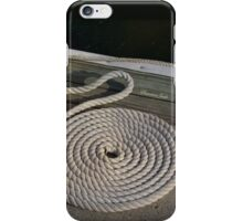Neatness counts! ~ Rope on the Pier iPhone Case/Skin