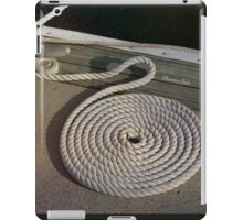 Neatness Counts! ~ Rope on the Pier iPad Case/Skin