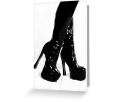 Black Boots Greeting Card