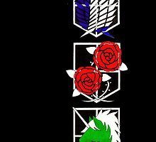 Attack on Titan Emblems by Kronos1698